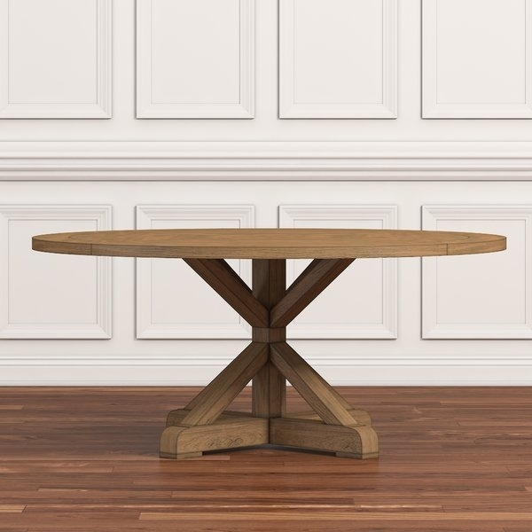 44 Inch Round Dining Table | Wayfair pertaining to Valencia 5 Piece 60 Inch Round Dining Sets