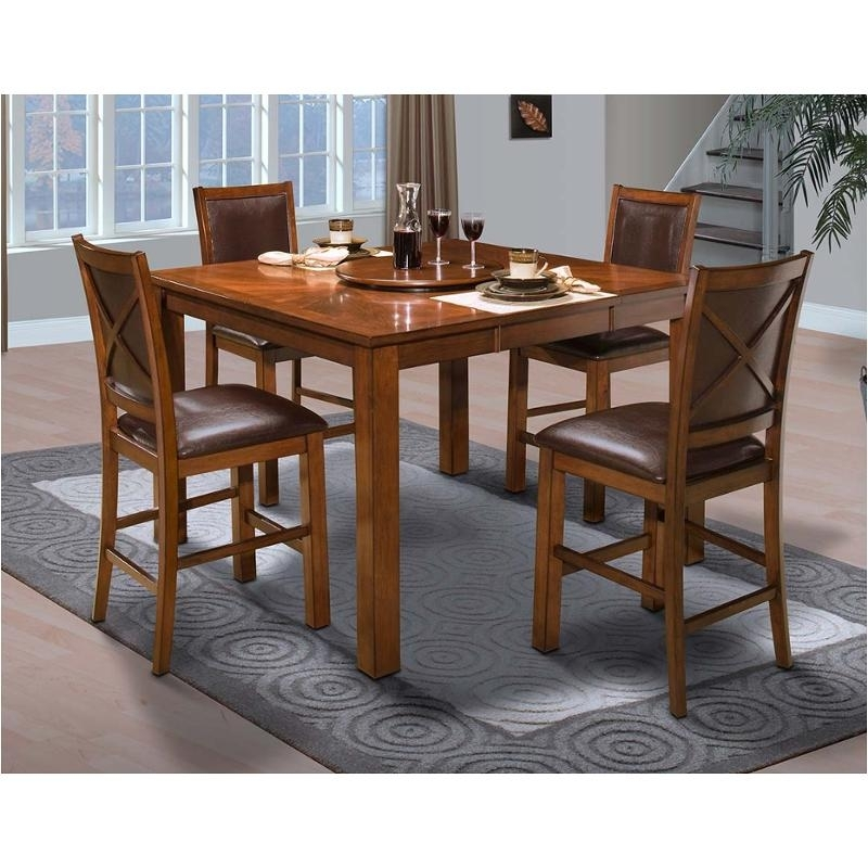 45-116-12 New Classic Furniture Aspen Counter Dining Table with regard to Aspen Dining Tables