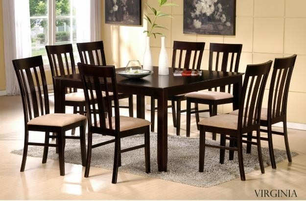 46 8 Chair Dining Table Set Black Glass Room And For Idea 2 With 8 Chairs Dining Sets (Photo 13 of 25)
