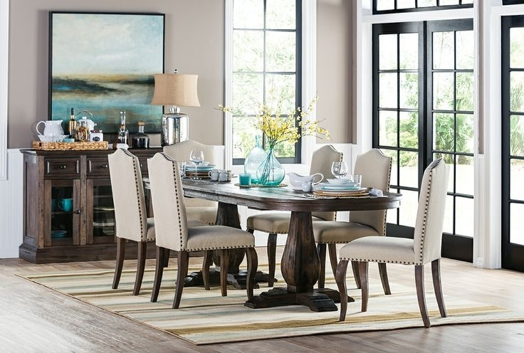 48 Best Mountain Bridge Images On Pinterest | Decks, Landscape Within Combs 7 Piece Dining Sets With Mindy Slipcovered Chairs (View 20 of 25)
