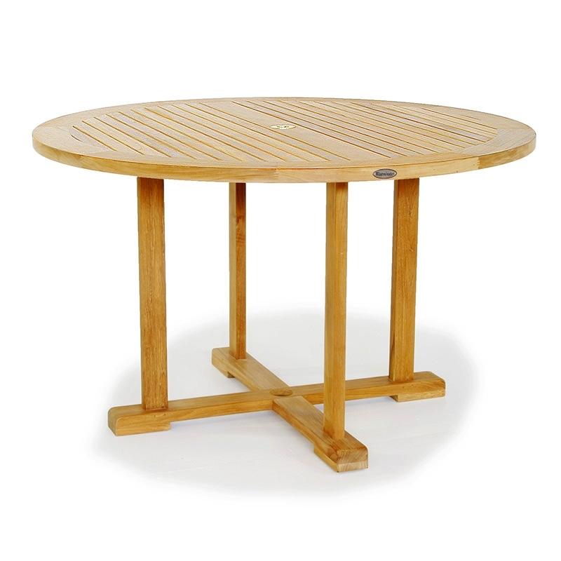 48 In Round Teak Table | Westminster Teak regarding Round Teak Dining Tables