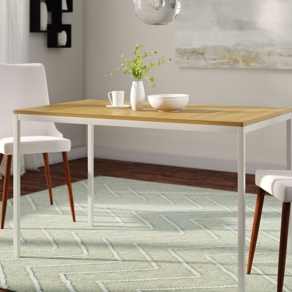 48 Inch Long Dining Table | Wayfair Inside Valencia 72 Inch 6 Piece Dining Sets (View 23 of 25)