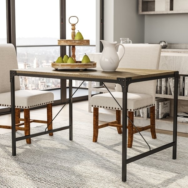 48 Inch Long Dining Table | Wayfair pertaining to Valencia 72 Inch Extension Trestle Dining Tables