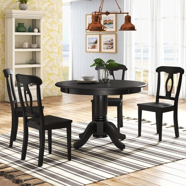 48 Inch Round Dining Table Set | Wayfair In Wyatt 7 Piece Dining Sets With Celler Teal Chairs (Image 5 of 25)