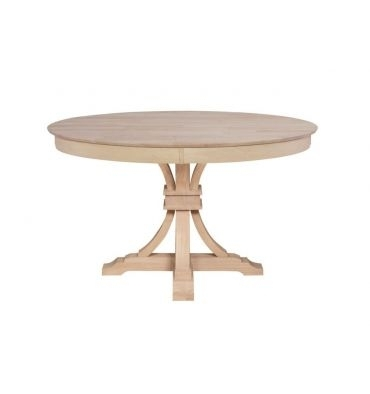 48 Inch] Sienna Round Dining Table With Terra Flared Pedestal Base with Outdoor Sienna Dining Tables