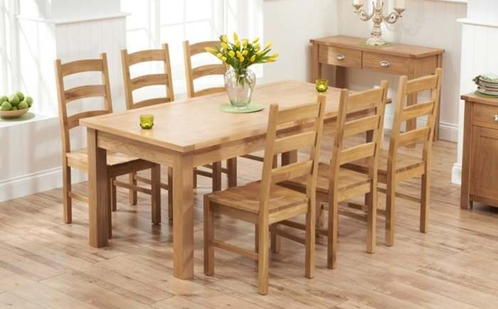 5. 6 Seater Oak Dining Table Sets with regard to Oak 6 Seater Dining Tables