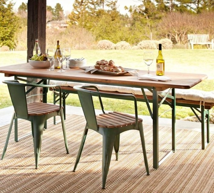 5 Favorites: Folding Outdoor Dining Tables - Gardenista with Garden Dining Tables