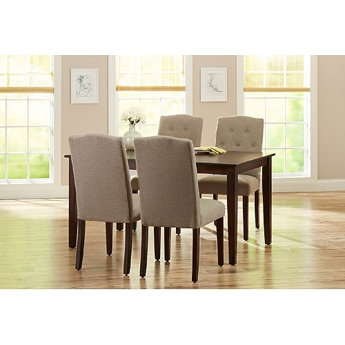 5. Jaxon 5 Piece Round Dining Set W Upholstered Chairs Qty 1 Has Throughout Jaxon Grey 5 Piece Round Extension Dining Sets With Upholstered Chairs (Photo 20 of 25)