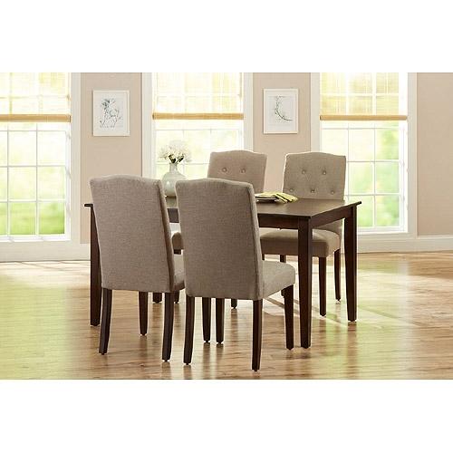 5. Jaxon 5 Piece Round Dining Set W Upholstered Chairs Qty 1 Has throughout Jaxon Grey 5 Piece Round Extension Dining Sets With Upholstered Chairs