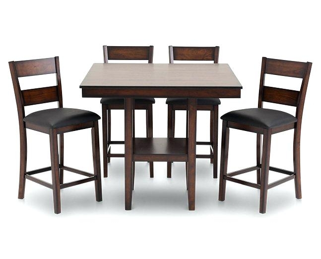 5 Pc Counter Height Dining Set – Crystalfrost Intended For Jensen 5 Piece Counter Sets (Image 1 of 25)