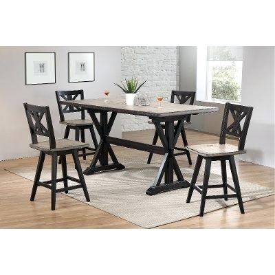 5 Pc Counter Height Dining Set Exquisite Porter 7 Piece Reviews On For Jensen 5 Piece Counter Sets (Image 2 of 25)
