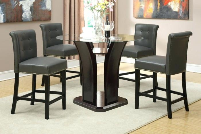 5 Pc Counter Height Dining Set Exquisite Porter 7 Piece Reviews On Regarding Jensen 5 Piece Counter Sets (Image 6 of 25)