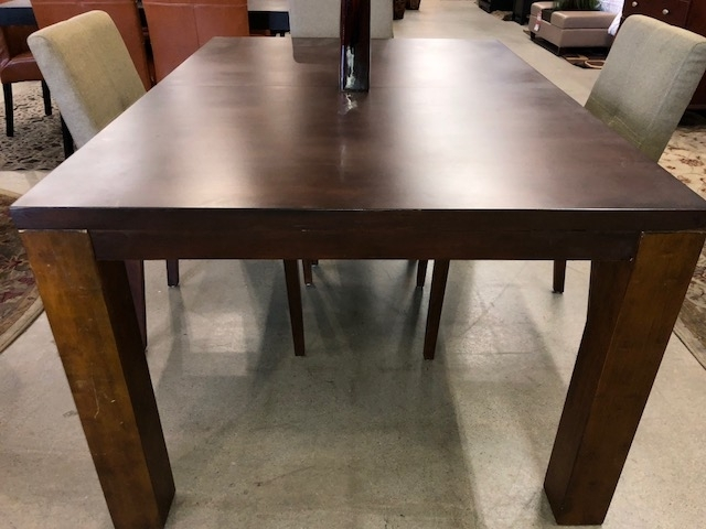 """5"""" Pc Eco Chic Dining Set & Roslyn Light Brown Fabric Chairs with Dining Tables and Fabric Chairs"""