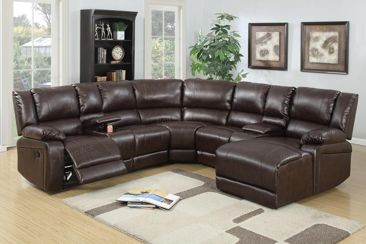 5 Pcs Reclining Sectional Brown Leather Sofa Set With Tess 2 Piece Power Reclining Sectionals With Laf Chaise (Image 2 of 25)