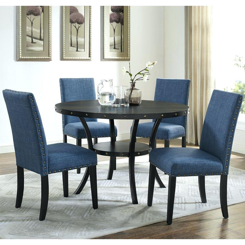 5 Piece Espresso Dining Set Espresso Dining Table 5 Piece And Chairs Pertaining To Caira Black Round Dining Tables (Image 1 of 25)