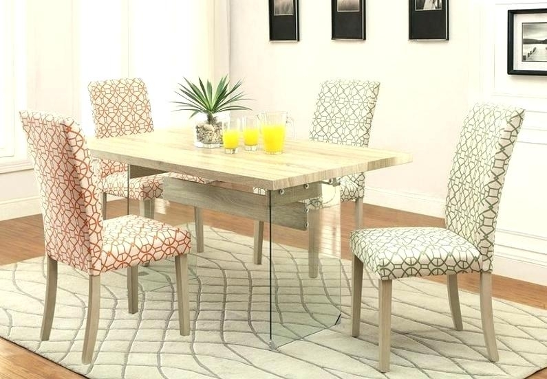 5 Piece Glass Top Dining Set Crown Table – Ablelend with regard to Macie 5 Piece Round Dining Sets