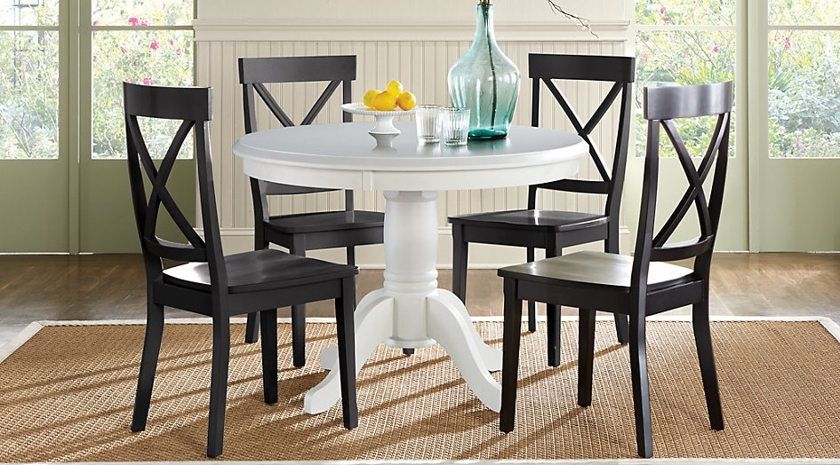 5 Piece Round Dining Set Home Design And Ideas | Groundswellplayers For Caden 5 Piece Round Dining Sets (Image 2 of 25)