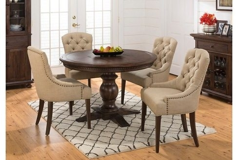 5 Piece Round Dining Set Home Design And Ideas | Groundswellplayers With Caden 5 Piece Round Dining Sets (Image 3 of 25)
