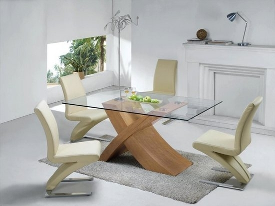 5 Tips To Help You Buy Dining Table And Chairs – Fif Blog For Glass Dining Tables With Oak Legs (Image 1 of 25)