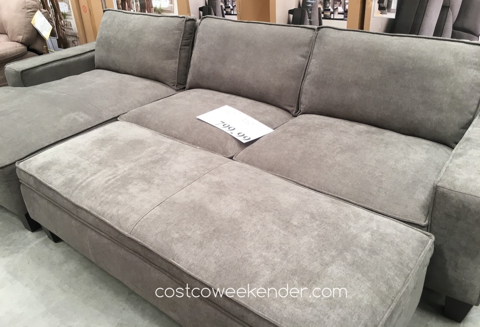 50 Glamorous Chaise Sofa With Storage Ottoman Ea122980 – Sofa Q Pertaining To Taren Reversible Sofa/chaise Sleeper Sectionals With Storage Ottoman (Image 2 of 25)