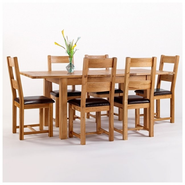 50% Off Rustic Oak Dining Table And 6 Chairs | Extending | Westbury with Extendable Oak Dining Tables and Chairs