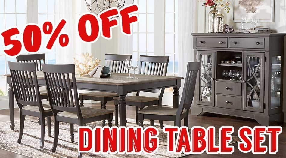 50 Percent Off Cindy Crawford Home Ocean Grove Gray 5 Pc Dining Room Intended For Crawford 6 Piece Rectangle Dining Sets (Image 4 of 25)