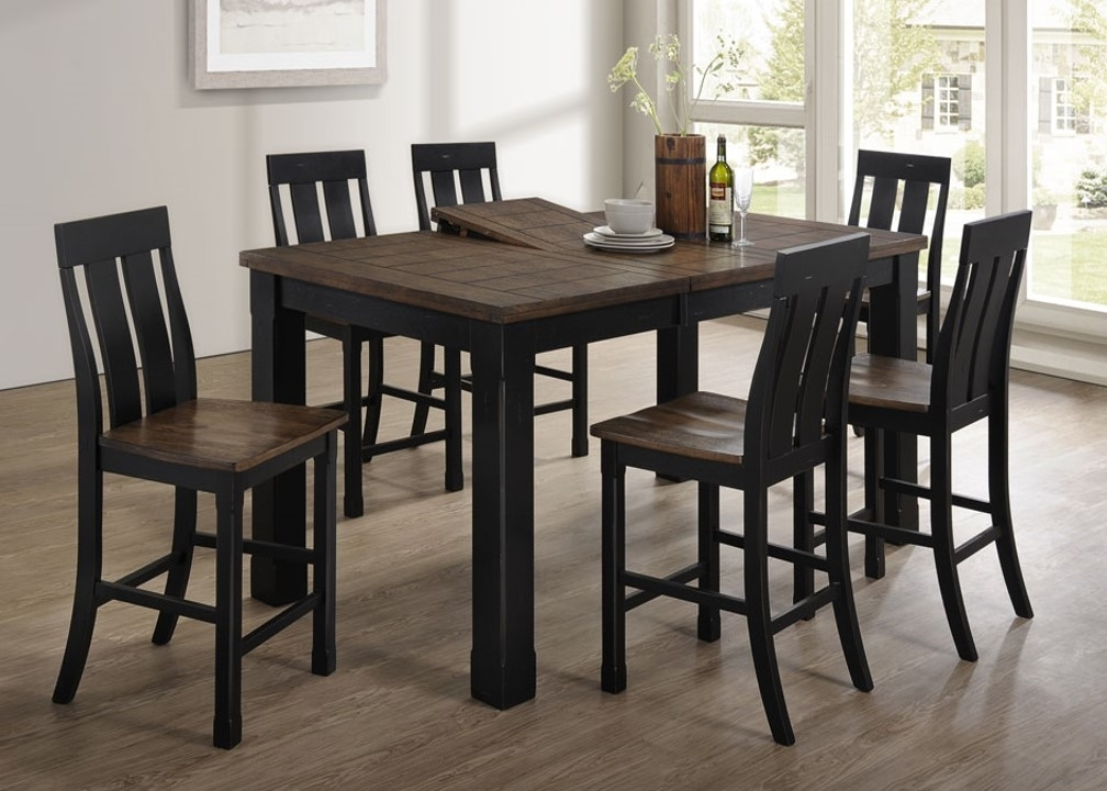 5016-72 Tyler - United Furniture Industries within Leon 7 Piece Dining Sets