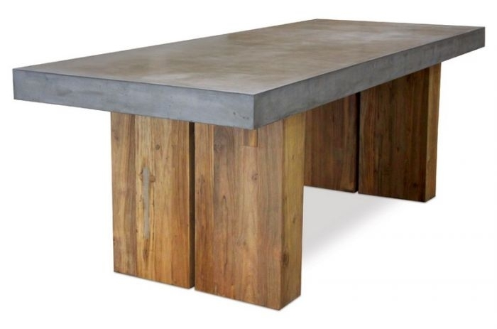 """501Ft040P2G Perpetual 87"""" Teak Olympus Dining Table With Reclaimed Base within 87 Inch Dining Tables"""