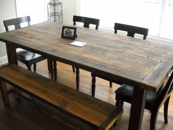 53 Best Barn Wood Kitchen Table Images On Pinterest Farm House Pertaining To Barn House Dining Tables (Image 4 of 25)