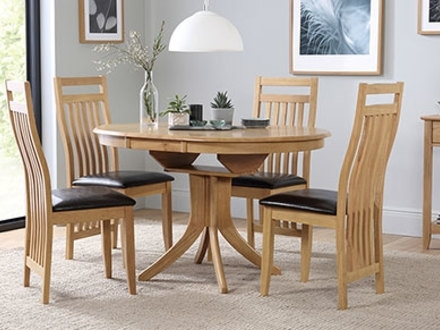 53 Extendable Round Dining Table Set, Devon Round Extendable Dining throughout Extendable Round Dining Tables Sets