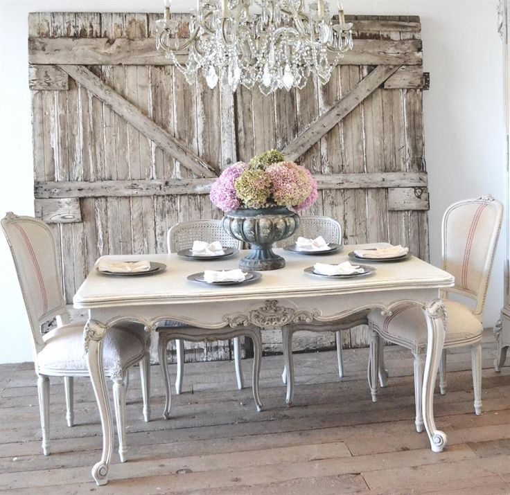 53 Shabby Chic Dining Table And Chairs Set, Bespoke Handmade Shabby Pertaining To Shabby Chic Cream Dining Tables And Chairs (Image 2 of 25)