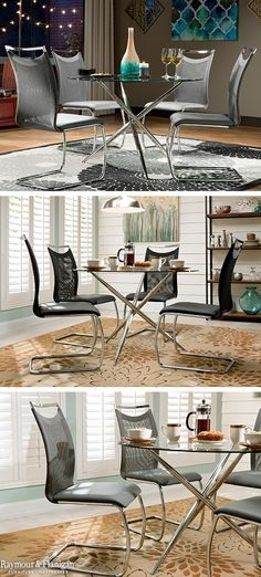 54 Best Dining Room Ideas Images On Pinterest In 2018 | Dining Room In Wyatt 7 Piece Dining Sets With Celler Teal Chairs (Image 6 of 25)