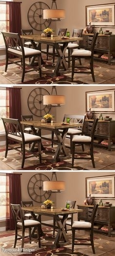 54 Best Dining Room Ideas Images On Pinterest In 2018 | Dining Room Intended For Norwood 7 Piece Rectangular Extension Dining Sets With Bench & Uph Side Chairs (View 11 of 25)
