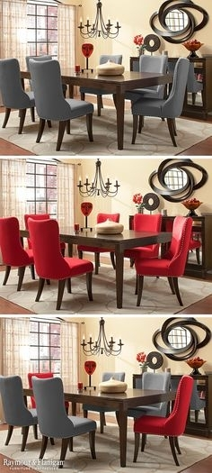 54 Best Dining Room Ideas Images On Pinterest In 2018 | Dining Room Intended For Wyatt 7 Piece Dining Sets With Celler Teal Chairs (Image 8 of 25)