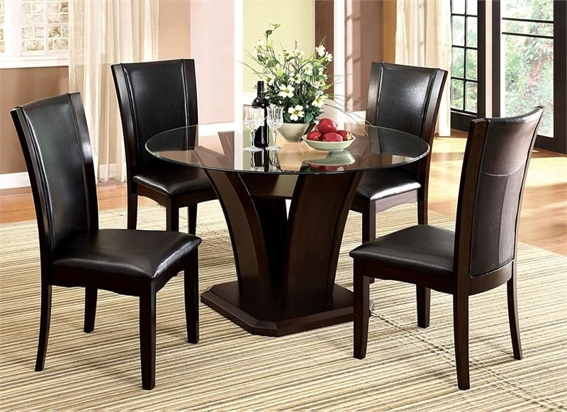 "54"" Manhattan Round Glass Table With Chairs 