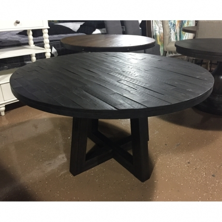 "54"" Round Solid Wood Acacia Dining Table Or 5Pc Set - Lexington, Ky pertaining to Acacia Dining Tables"