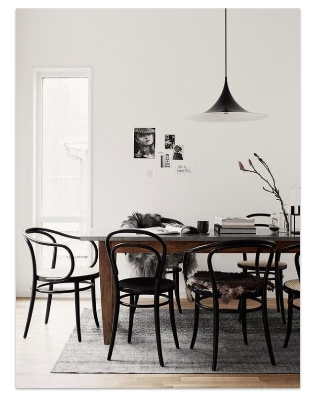 55 Best Home Images On Pinterest | Furniture, Bentwood Chairs And Throughout Palazzo 7 Piece Dining Sets With Pearson White Side Chairs (Image 8 of 25)