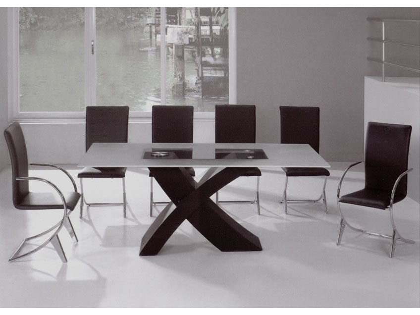 55 Dining Table Set Contemporary, Visby Extendable Dining Set intended for Contemporary Dining Room Tables And Chairs