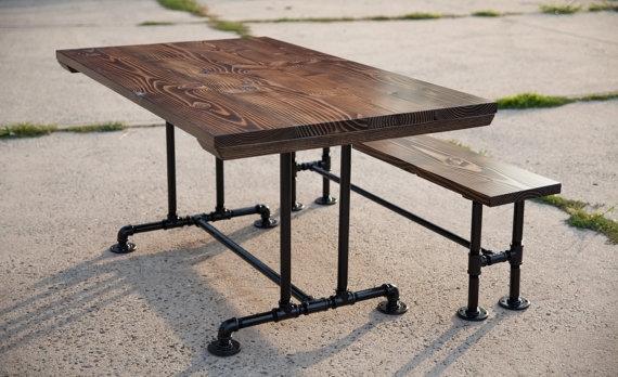 5Ft Industrial Style Farmhouse Table | Farmhouse Dining Table With pertaining to Industrial Style Dining Tables