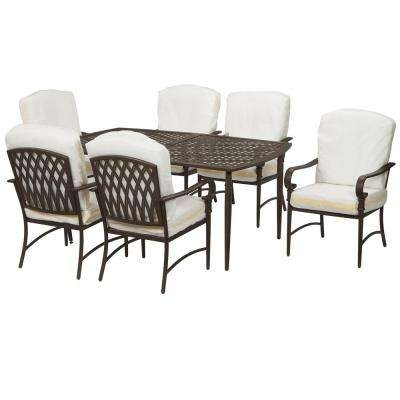 6 7 Person – Patio Dining Furniture – Patio Furniture – The Home Depot Within Outdoor Dining Table And Chairs Sets (Photo 12 of 25)