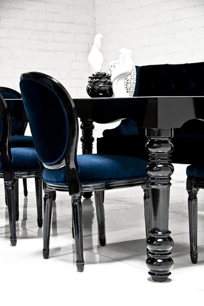 6. Bel Air Dining Table In High Gloss Black inside Black Gloss Dining Tables