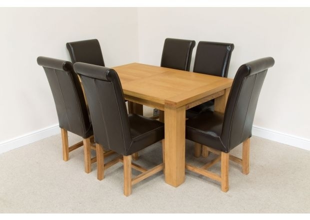 6 Chair Dining Sets | Top Furniture Within Oak Dining Set 6 Chairs (View 15 of 25)