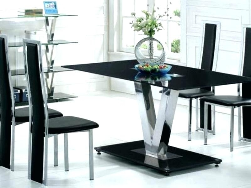 6 Chair Dining Table Dining Table With 6 Chairs 6 Chair Dining Table Intended For Black Glass Dining Tables With 6 Chairs (Image 2 of 25)