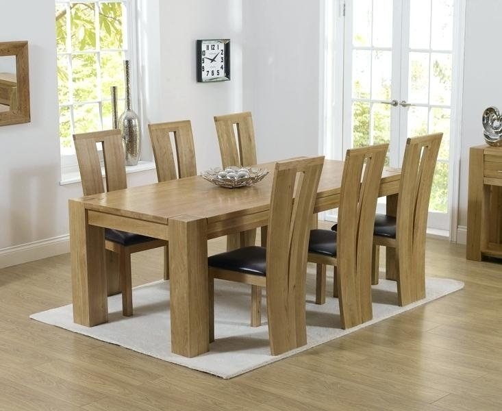 6 Chair Dining Table Dining Table With 6 Chairs 6 Chair Dining Table Within Oak Extending Dining Tables And 6 Chairs (Image 3 of 25)