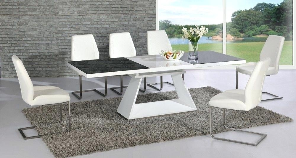 6 Chair Dining Table Set Glass For Round And Chairs Top Furniture With Regard To Black Glass Dining Tables And 6 Chairs (Image 4 of 25)