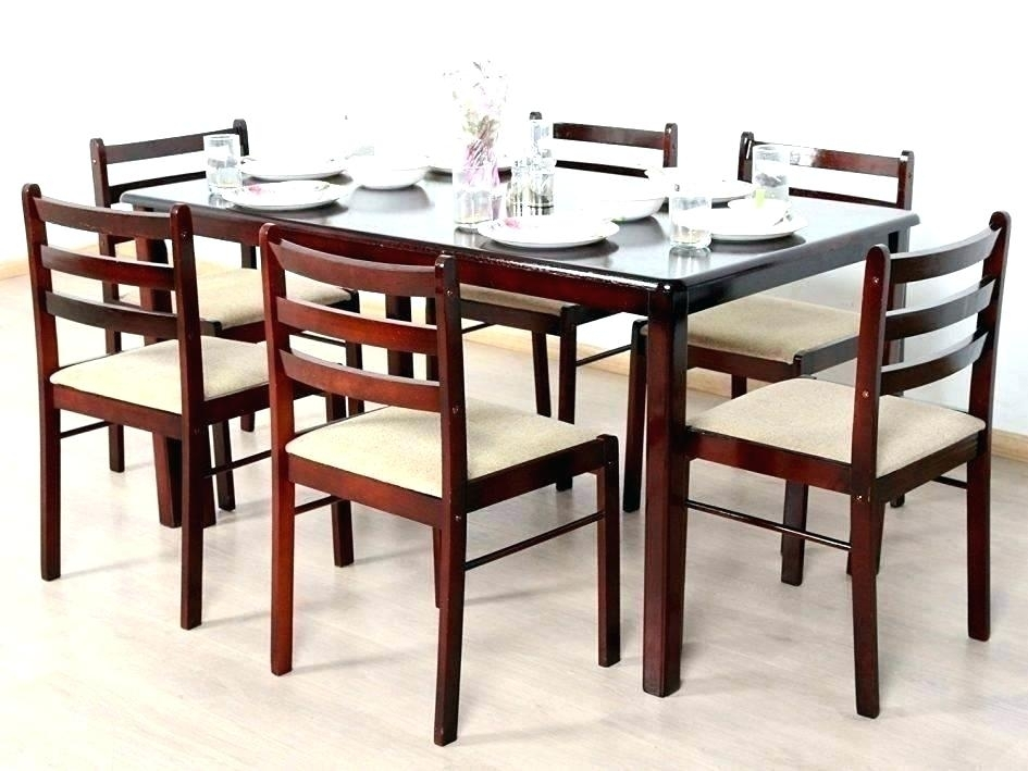 6 Chair Dining Table Set – Vietfirsttour Regarding Cheap Glass Dining Tables And 6 Chairs (View 21 of 25)