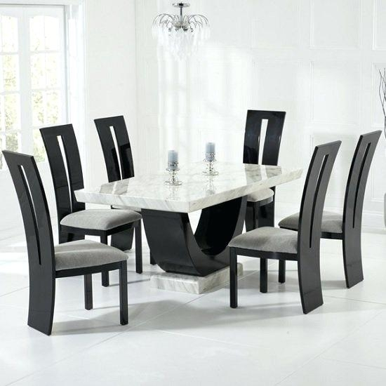 6 Chair Dining Tables High Top Kitchen Table 6 Chairs Brilliant 6 For Dining Tables For Six (Image 2 of 25)