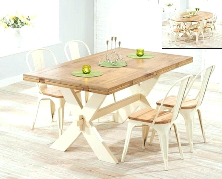6 Dining Table Set Cream Seat Home Decor Extending Sets F Small And intended for Cream Dining Tables And Chairs