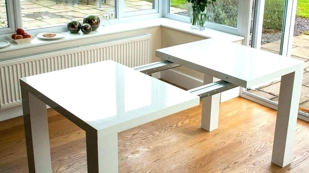 6. Modern Expandable Dining Table Contemporary Extendable Dining Throughout Square Extending Dining Tables (Photo 6 of 25)