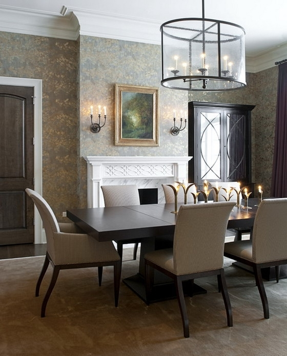 6. Oval And Round Dark Wood Dining Table Sets regarding Dark Dining Room Tables